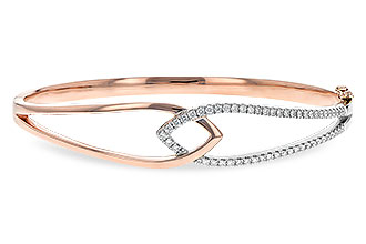 A217-17074: BANGLE BRACELET .50 TW (ROSE & WG)