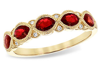 B218-07910: LDS WED RG 1.00 RUBY 1.04 TGW